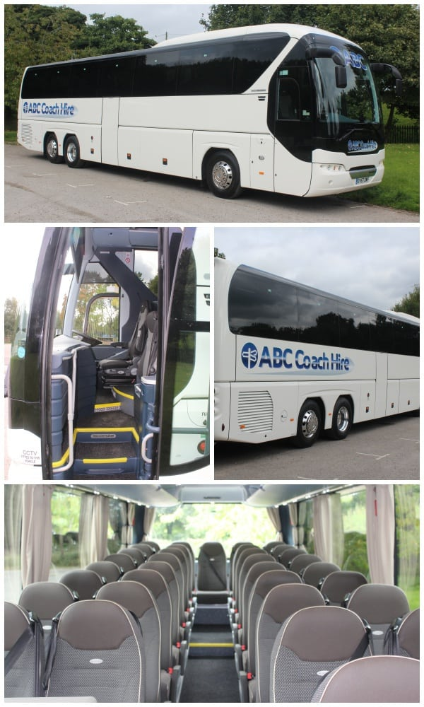 55-61 Seat Coach Hire, by ABC Coaches, Manchester