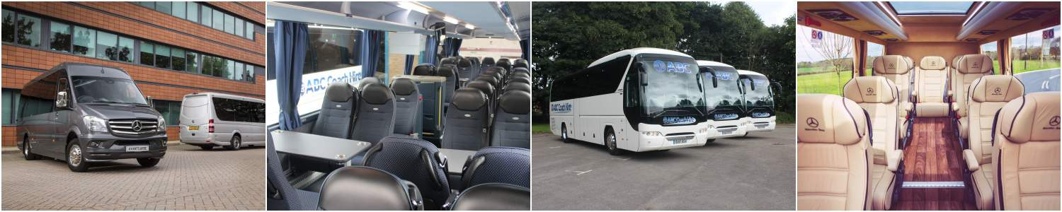 Airport Coach & Minibus Hire - From 16 Seat Mercedes Minibuses to 74 Seat Executive Coaches