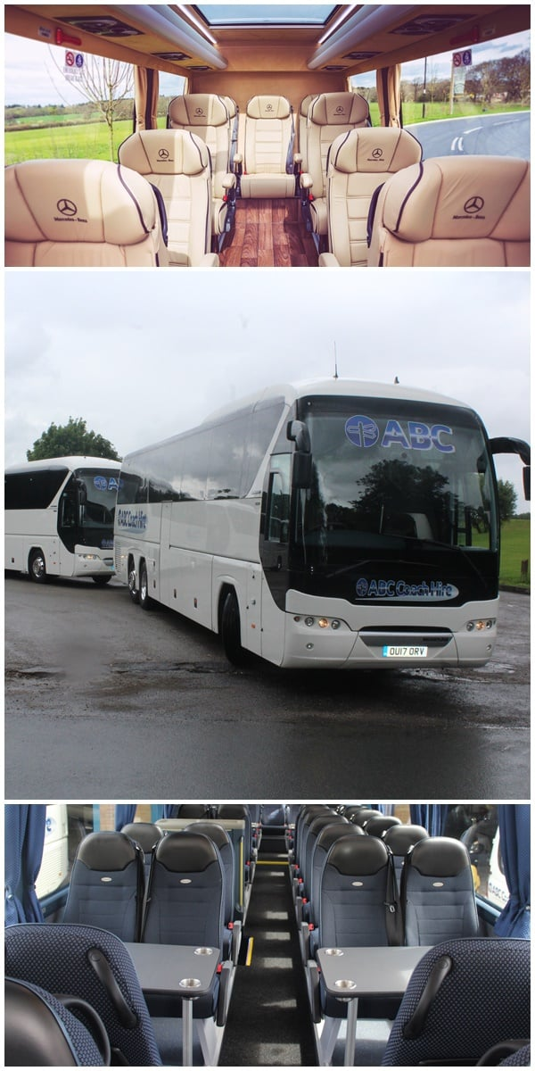 Corporate Coach Hire, from 16 seater Mercedes Minibuses to Exectutive Coaches