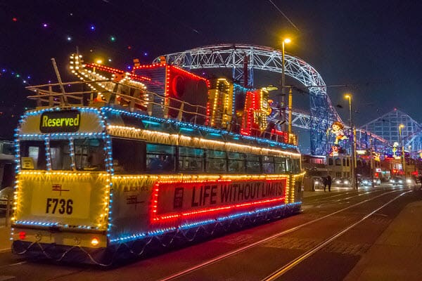Coach Hire to Blackpool Illuminations 2019
